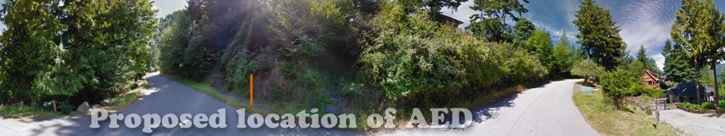 Proposed location of AED on Captain Cates Walk