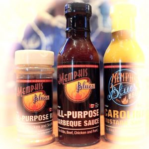 a bottle of memphis blues all purpose sauce